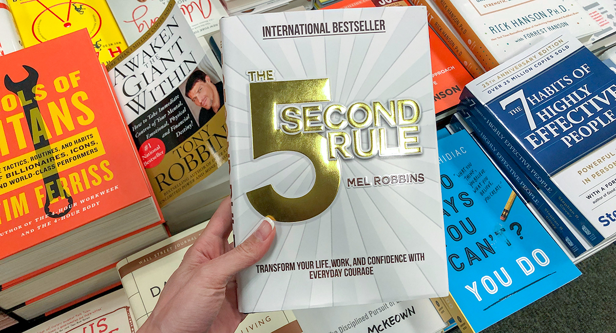 best Amazon self-help books — the 5 second rule by mel robbins