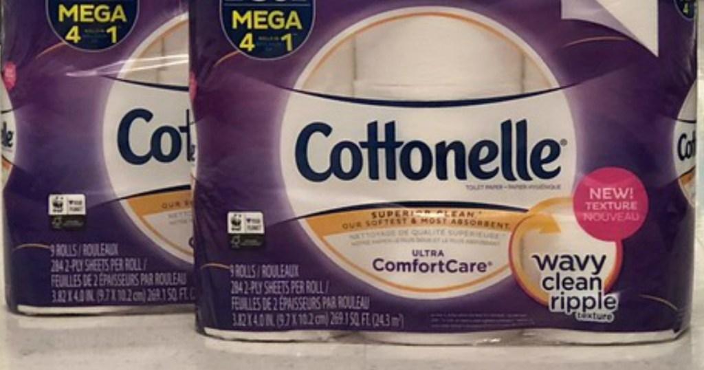 purple cottonelle ultra comfortcare toilet paper