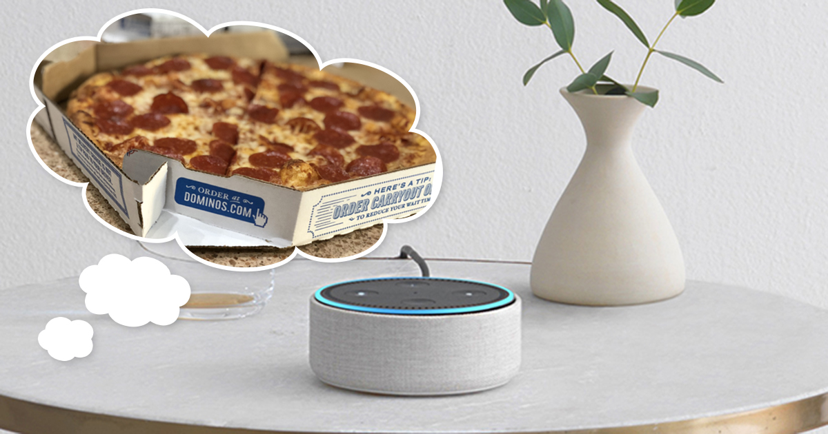Awesome things Alexa can do includes ordering Dominos pizza
