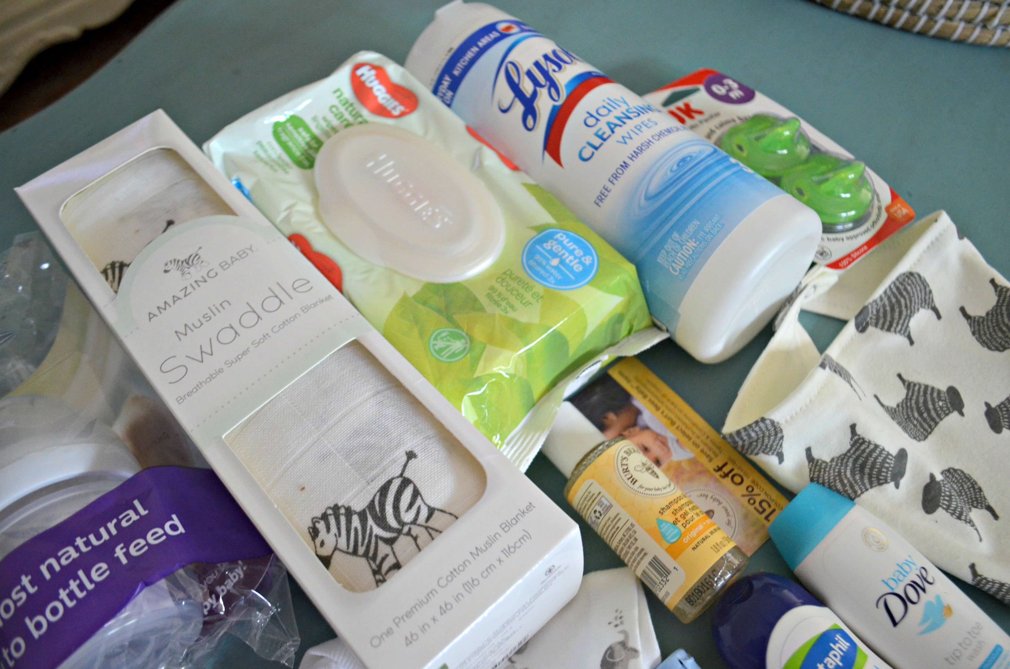 free baby box amazon registry – sample items on a table