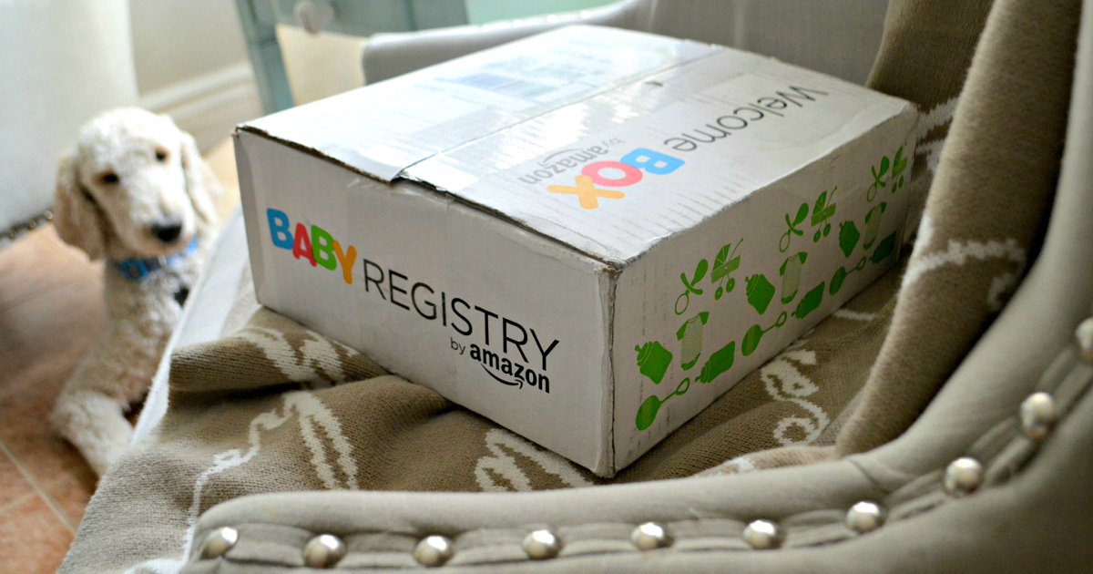 free baby box amazon registry – welcome box on a chair