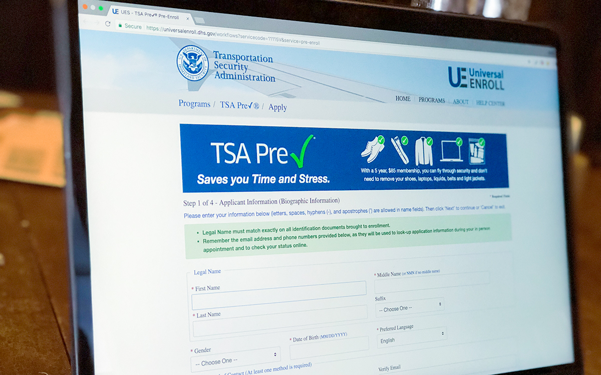 Sign up for the TSA PreCheck with an easy online application.