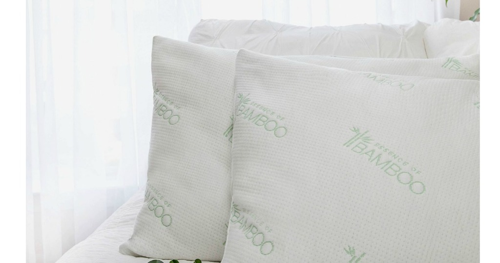 Bamboo Or Copper Infused Pillows 2 Pack Only 9 98