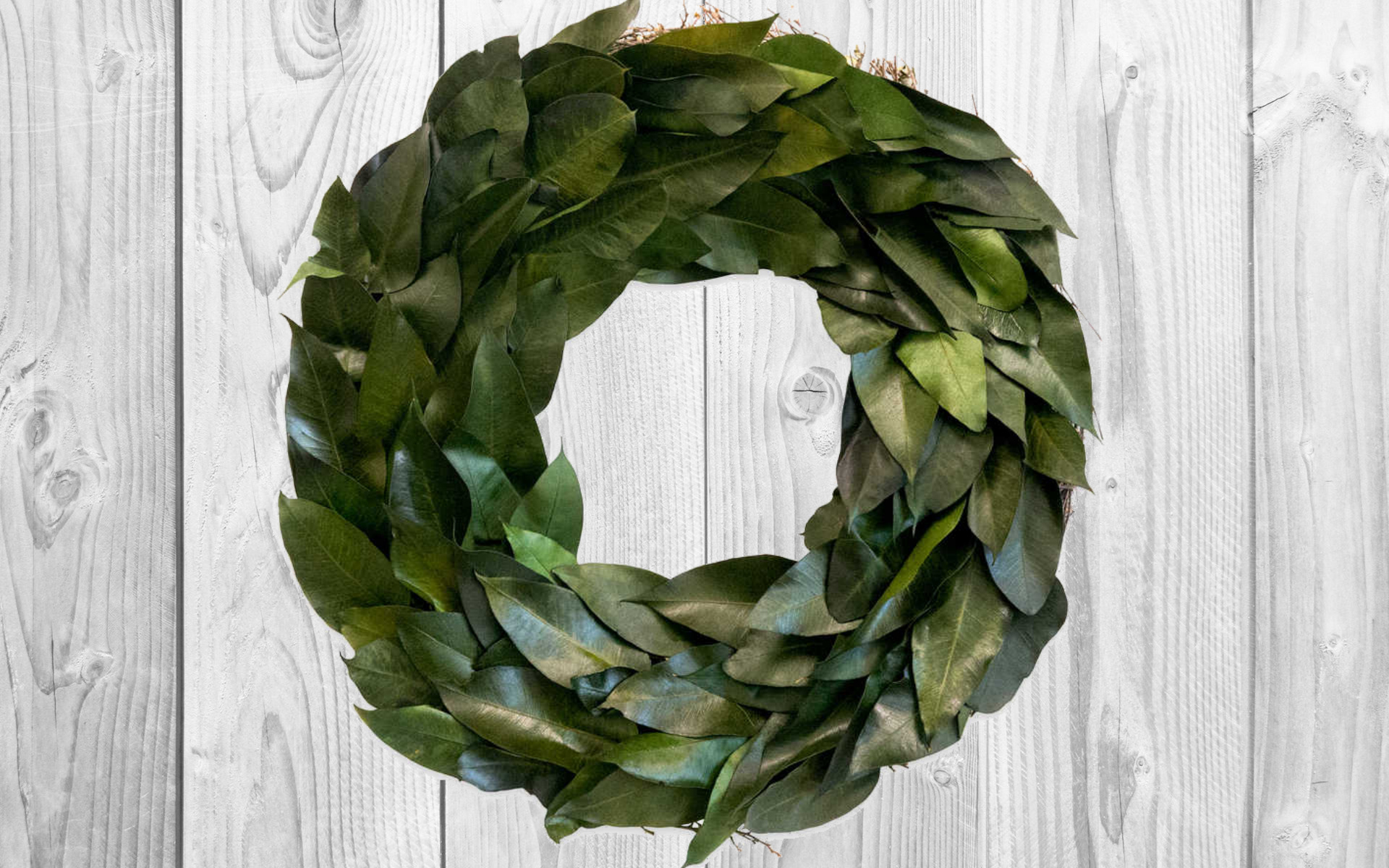 Bed Bath & Beyond has one of our Magnolia Wreath frugal look-alikes