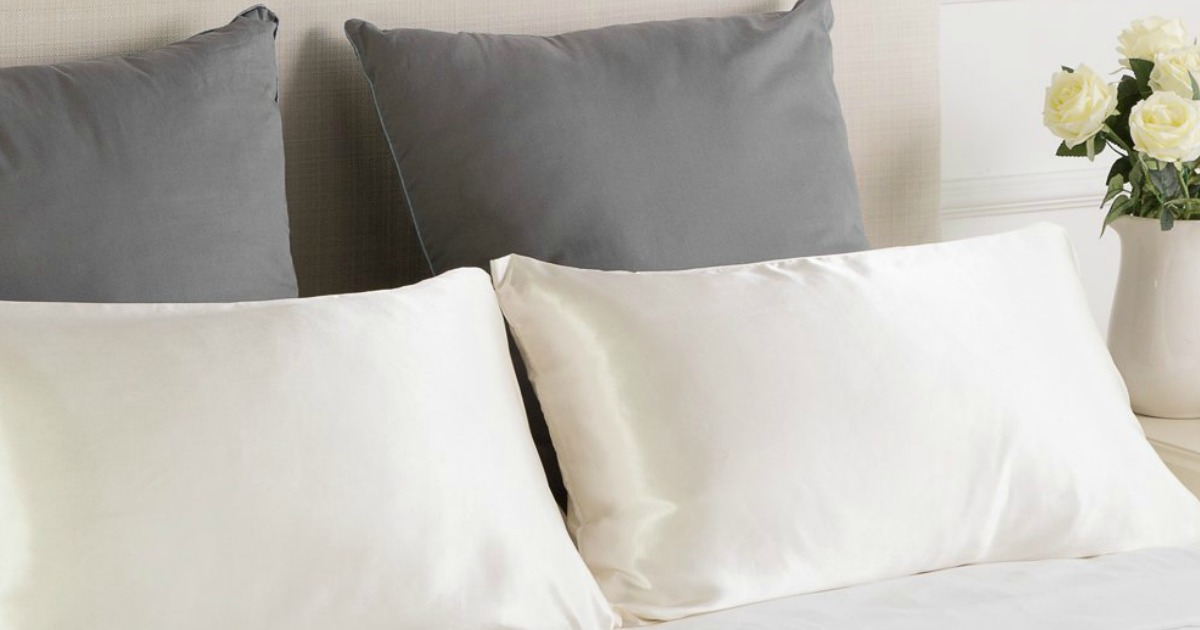Bedsure Polyester Satin Two Pack Pillowcase Set Only 7 99