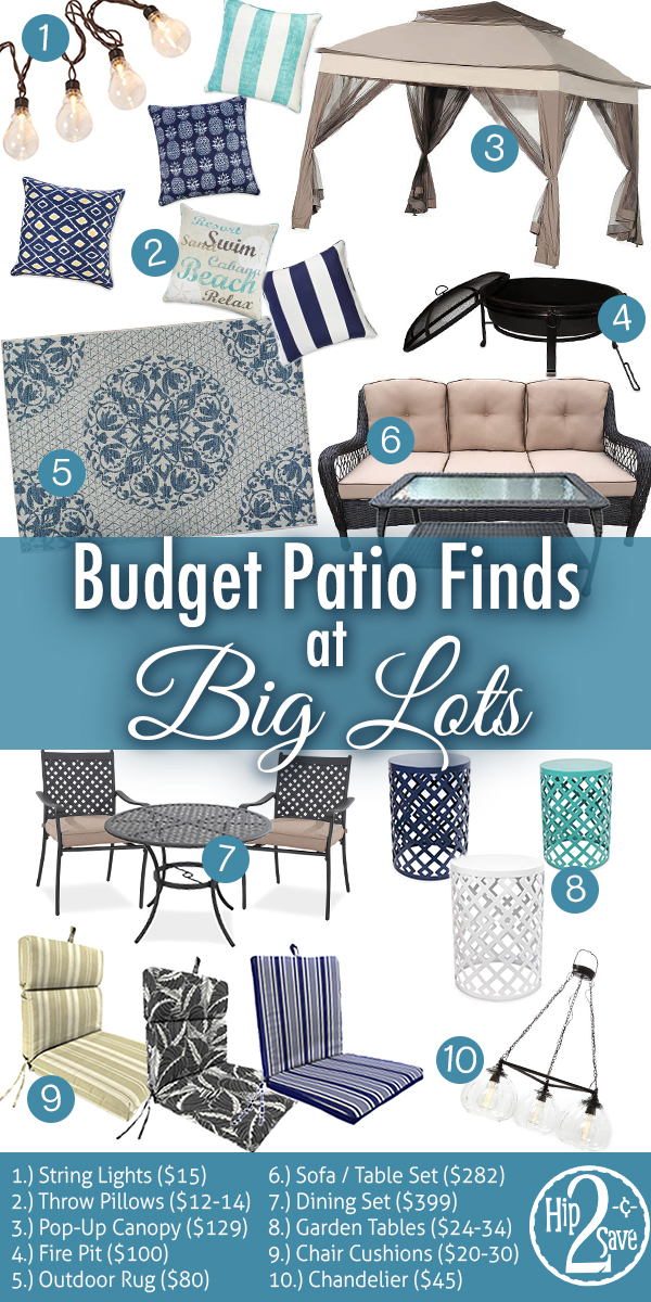 Refresh Your Patio With These Big Lots Backyard Budget Finds Hip2save