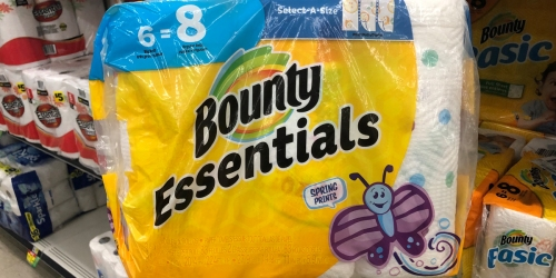 Bounty Essentials Paper Towels 6-Pack Just $3.99 on Walgreens.com | In Stock NOW