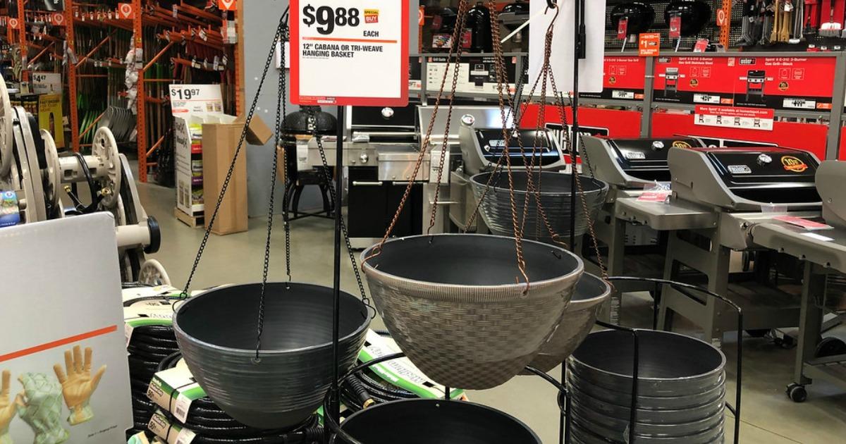 Home Depot Hanging Baskets Home Decor