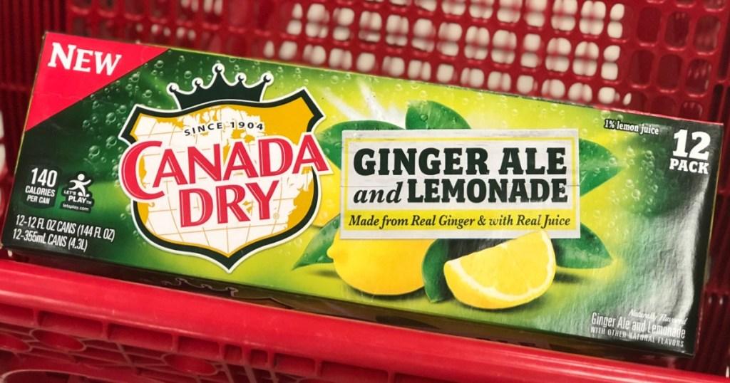 canada dry ginger ale and lemonade 12 packs at target