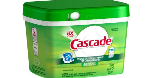 Cascade Dishwasher Detergent 60 Count Just $6.16 Shipped After Target Gift Card (When You Buy 3)