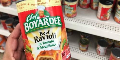 Chef Boyardee Beef Ravioli 4-pack Just $3.48 on Amazon | Easy Lunch Idea