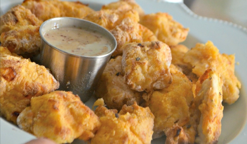 chick fil a copycat nuggets on a plate
