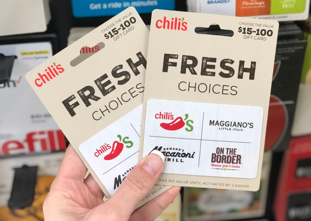 hand holding chilis gift card