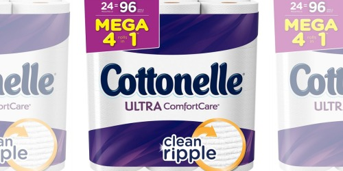 TWO Cottonelle Ultra Toilet Paper 24 MEGA Roll Packs Only $28 Shipped at Amazon | Just 59¢ Per Roll