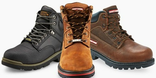 Two Pairs of Craftsman Work Boots $60.99 Shipped + Get $25 in Shop Your Way Points