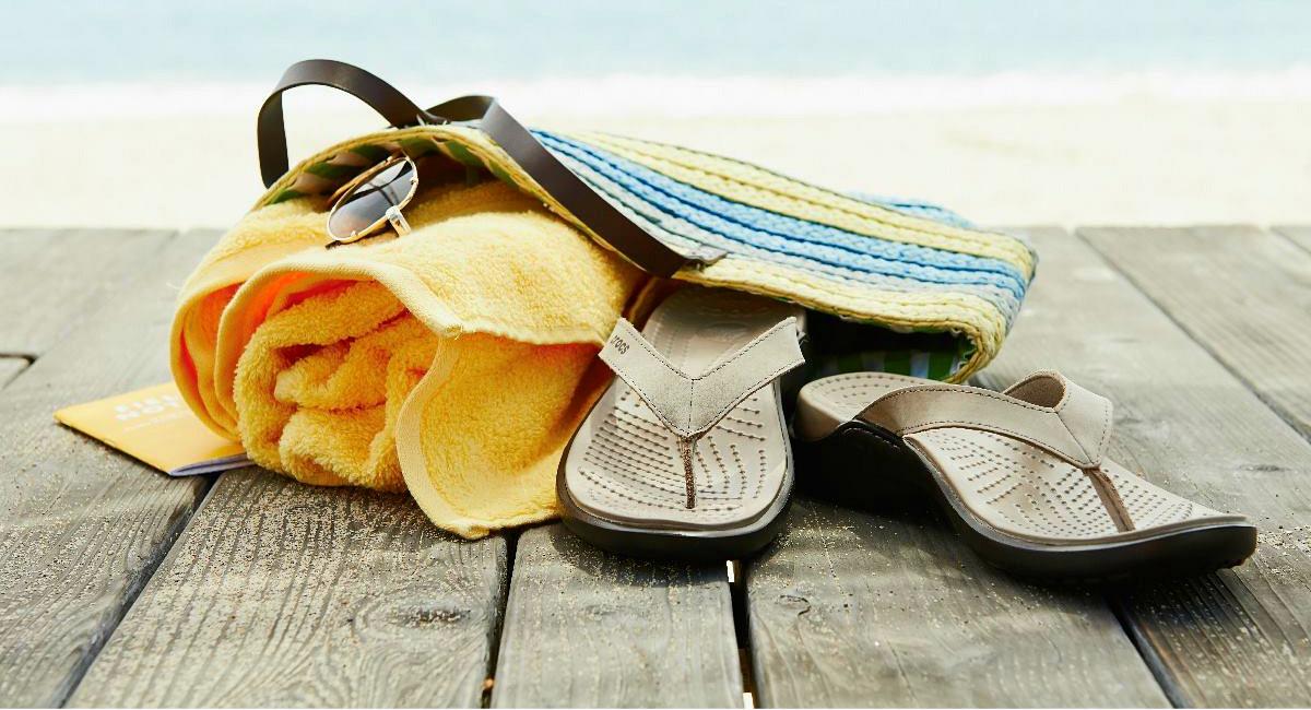 favorite budget flip flops — crocs