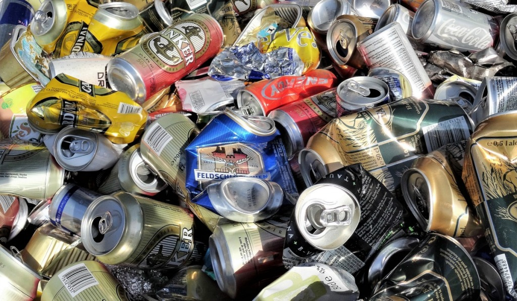 how to make money recycling cans — crushed cans