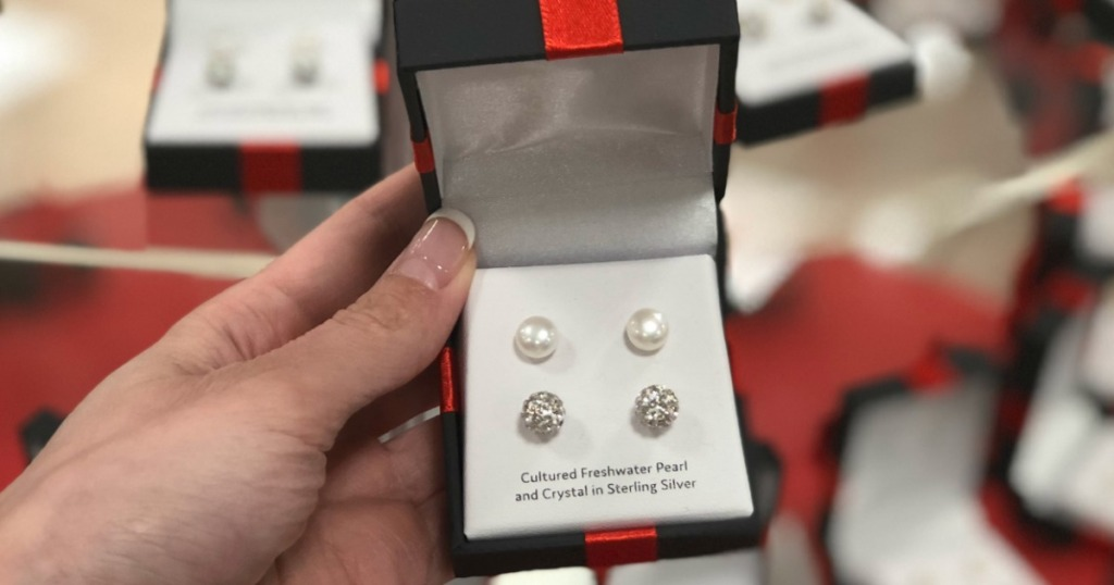 0c73a6def JCPenney: Cultured Pearl & Sterling Silver Earrings Set Only $10 (Just $5  Per Pair)