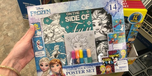 Disney Color Your Own Poster Kits Only $1 at Dollar Tree & More (Great Summer Activity)