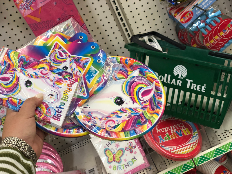 Check Dollar Tree For Unicorn Themed Party Supplies And Goody Bag Items I Was Able To Spot Plates Invitations Birthday Banners More ALL Just