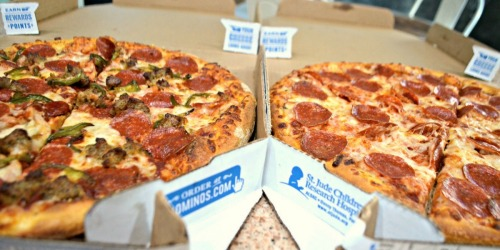 50% Off All Domino's Pizzas Ordered Online