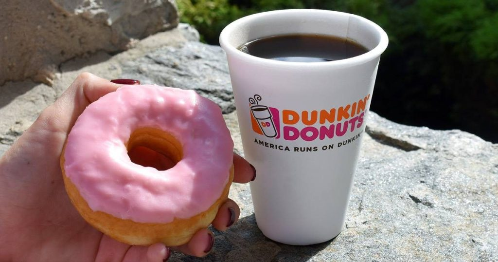 Dunkin' Donuts donut and coffee