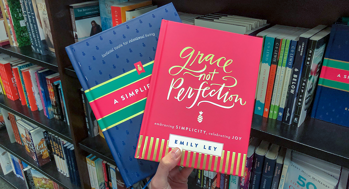 best Amazon self-help books — grace not perfection and a simplified life by emily ley