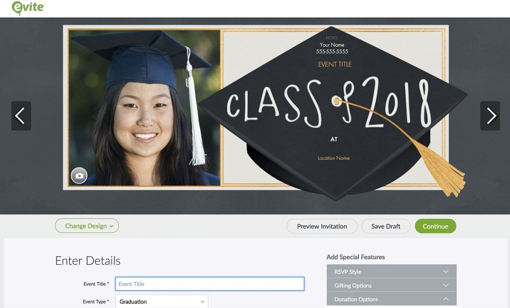 graduation party tips - use evite for free digital invites