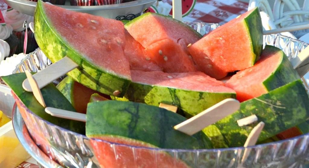 graduation party tips - freeze watermelon slices as popsicles