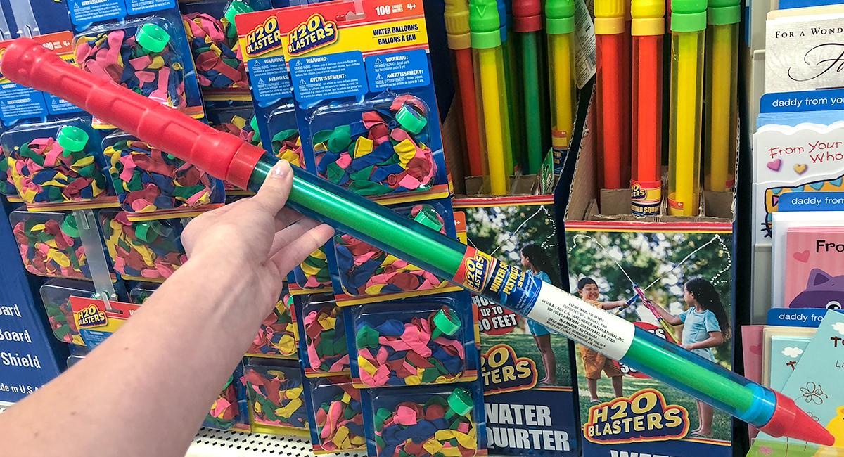 dollar tree pool supplies and fun hacks — h2o blaster squirt gun