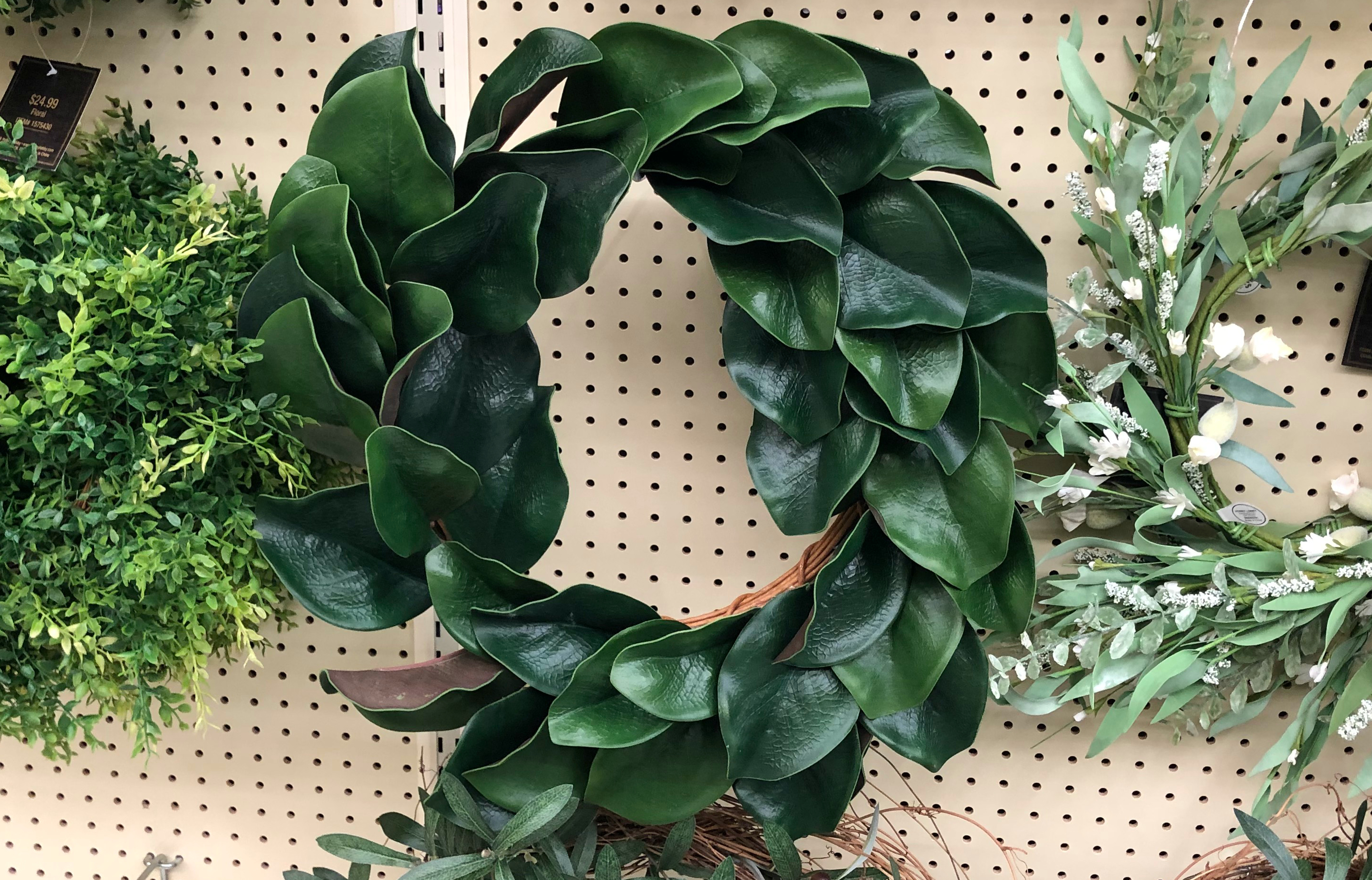 Hobby Lobby carries one of our Magnolia Wreath frugal look-alikes