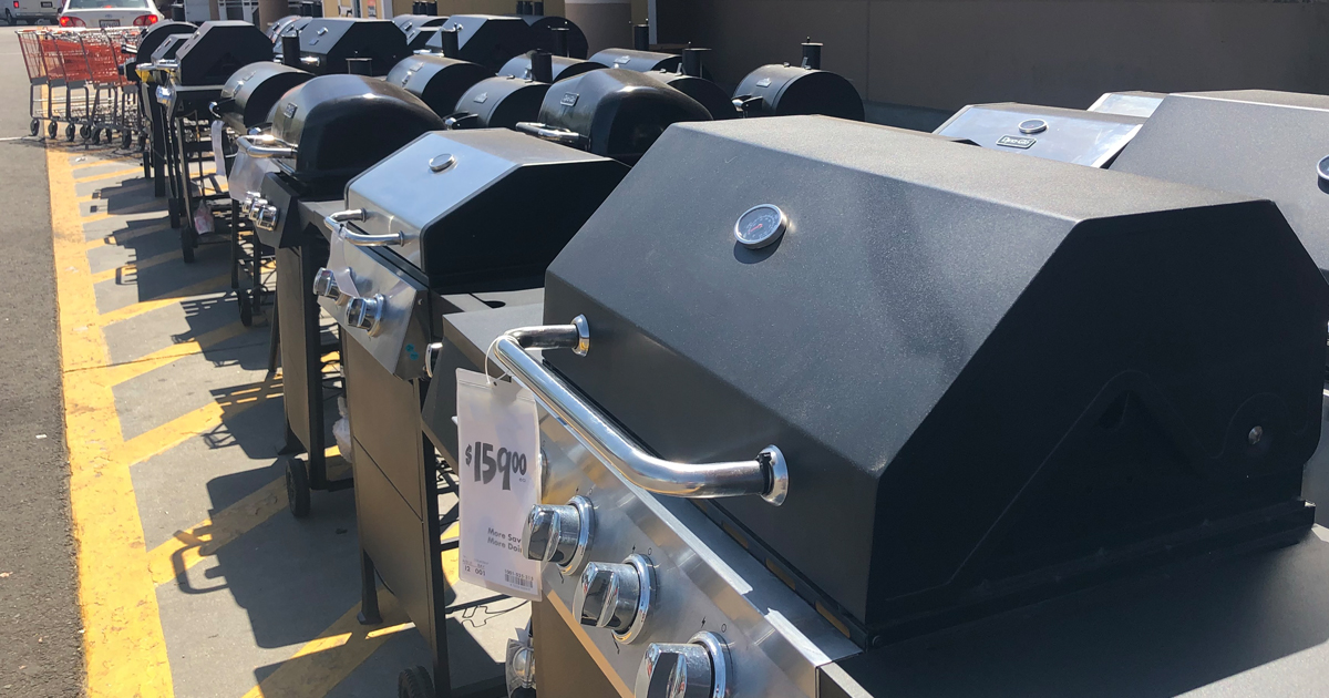 home depot grills in a row