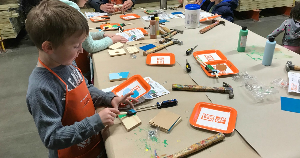 places for free fun activities — home depot workshop
