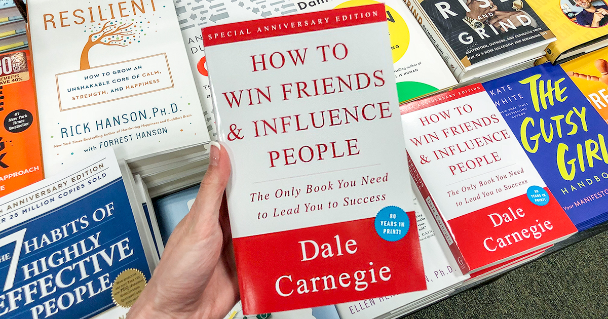 best Amazon self-help books — how to win friends and influence people by dale carnegie