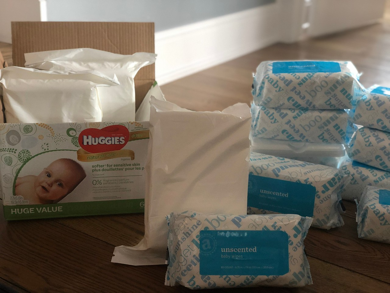 A cost comparison of the Amazon brand cost includes these baby wipes.