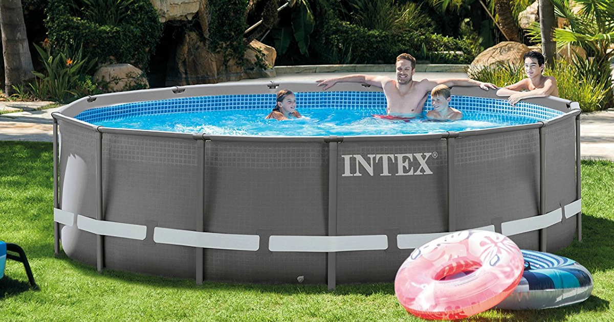 Intex Round Ultra Frame Pool Only 199 99 Shipped