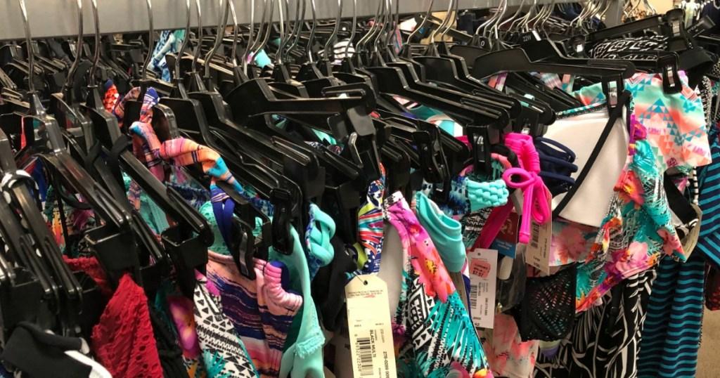 display of swimwear