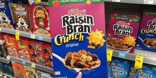 Raisin Bran Crunch Family Size Boxes 16-Pack Only $28.88 Shipped on Amazon | Just $1.80 Each