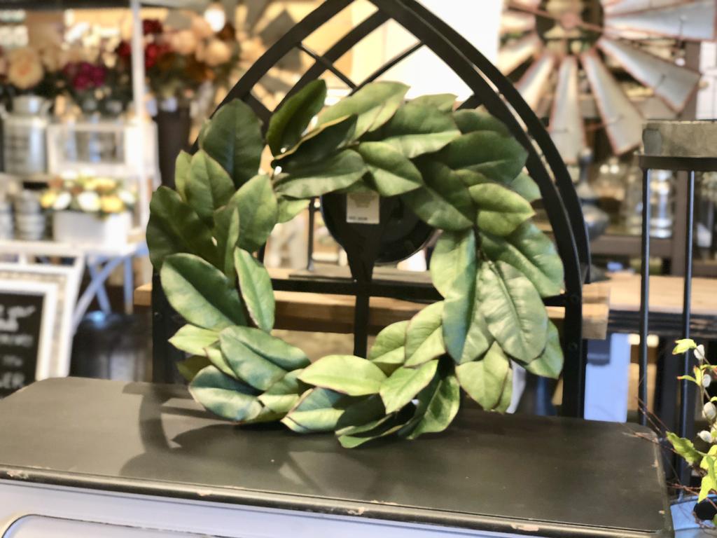 Ready-made magnolia wreath from Kirkland's.