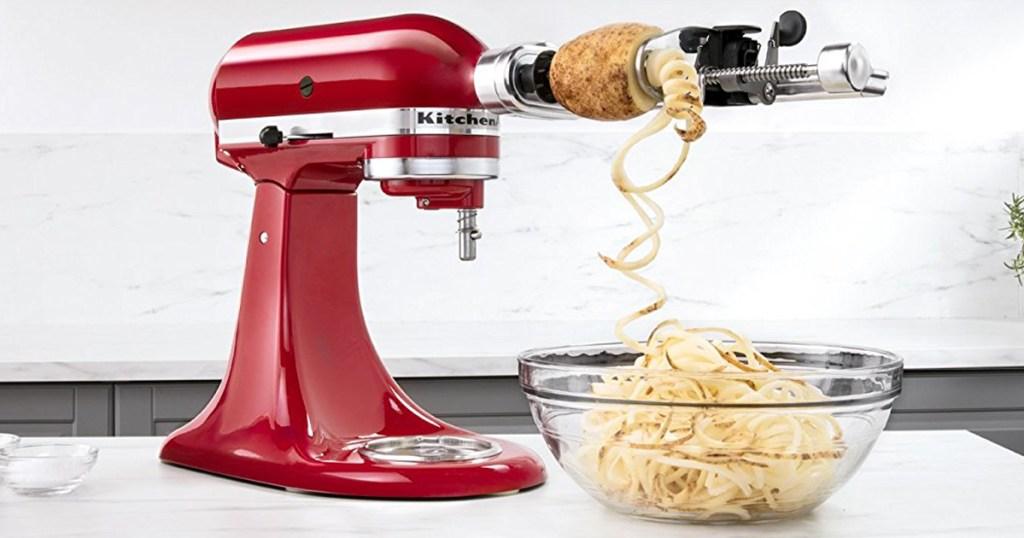Amazon Kitchenaid Spiralizer Attachment Set Only 56 98 Shipped