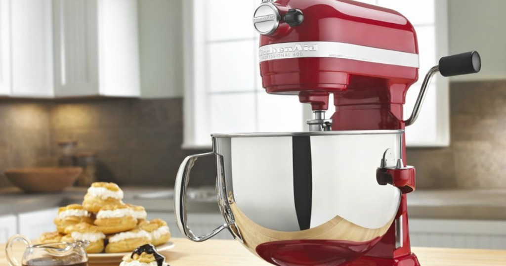 KitchenAid Pro 5 Plus red on counter