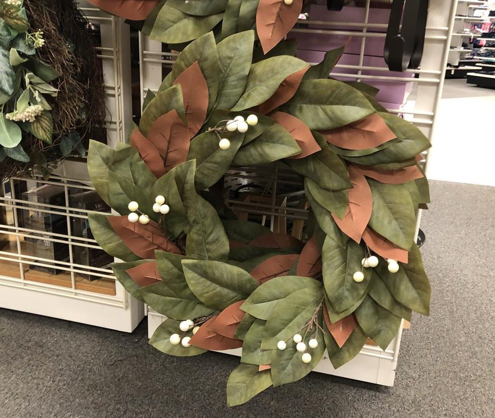 Kohl's carries one of the Magnolia Wreath frugal look-alikes