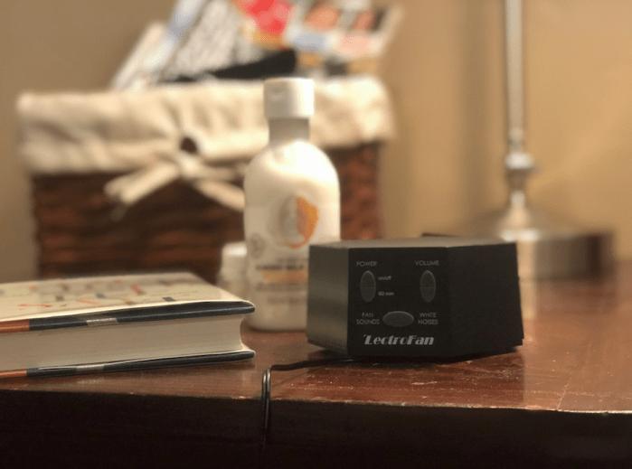 noise machine lectrofan review – Lectrofan on nightstand