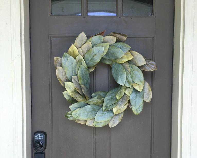 Save money when you make a DIY Magnolia Wreath like this Gaines original.