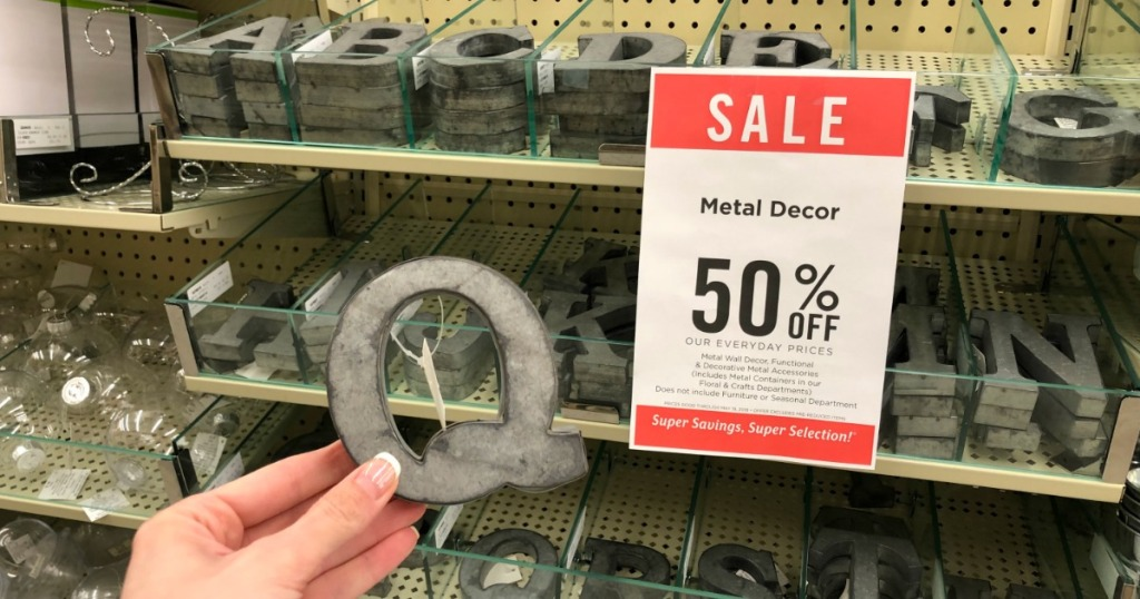 Through May 19th Head On Over To Hobby Lobby Where They Are Offering 50 Off Home Decor Including Fun Metal This Deal Is Valid Both In Store And