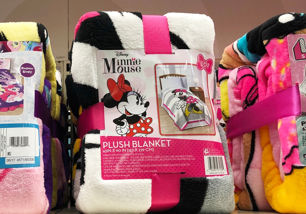 8047cbbfdbe Mickey Mouse & Friends Minnie Mouse Pink & White Throw Pillow Only $6.85  (regularly $9.79)