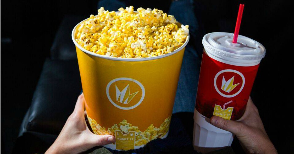 Stores, restaurants, hotels, and other places that offer senior discounts – movie theater regal popcorn and drink