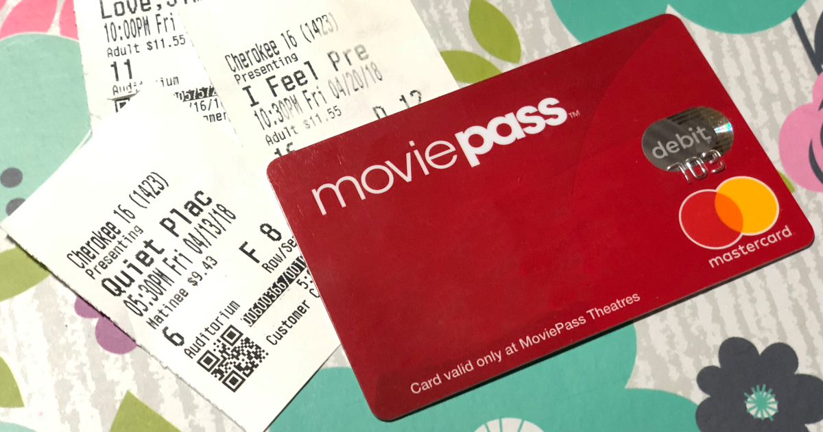 moviepass to offer family plan and bring a friend options – movie pass card and ticket stubs