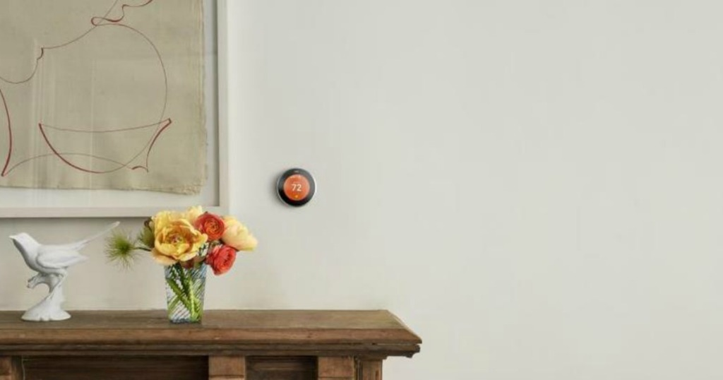 nest copper learning 3rd generation thermostat and google home mini only 199 shipped hip2save. Black Bedroom Furniture Sets. Home Design Ideas
