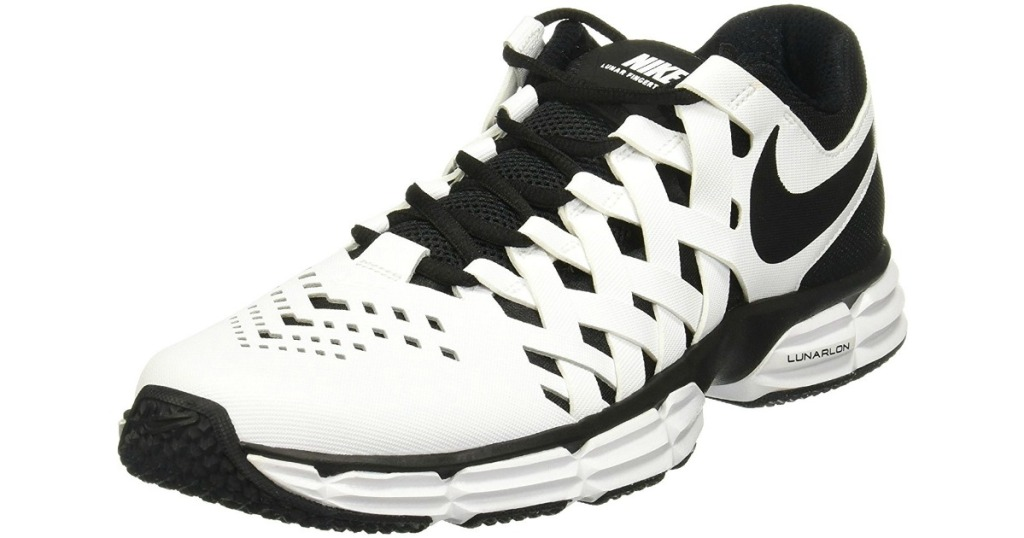 923d83570a Head on over to Academy Sports where you can snag these Nike Men's Lunar  Fingertrap TR Training Shoes in white/black for just $34.98 shipped  (regularly ...